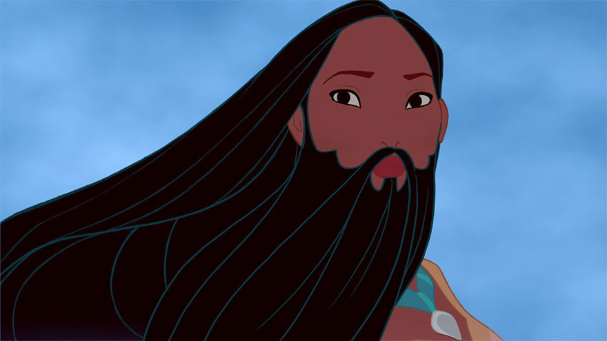 14095575495918 disney princesses with beards 3 Check Out These Disney Princesses with a Twist...or Well a BEARD!!