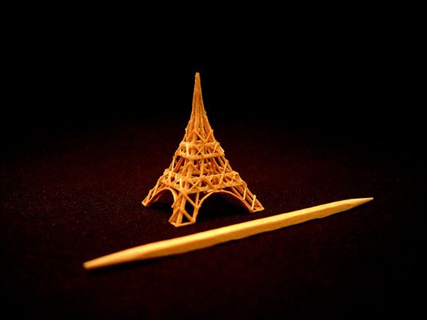 14095581811933 toothpick art eiffel tower Who would Imagine a Single Toothpick could build all these structures!! Eiffel Tower is Terrific..