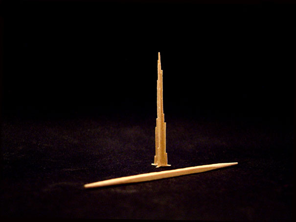1409558183413 toothpick art burj khalifa Who would Imagine a Single Toothpick could build all these structures!! Eiffel Tower is Terrific..