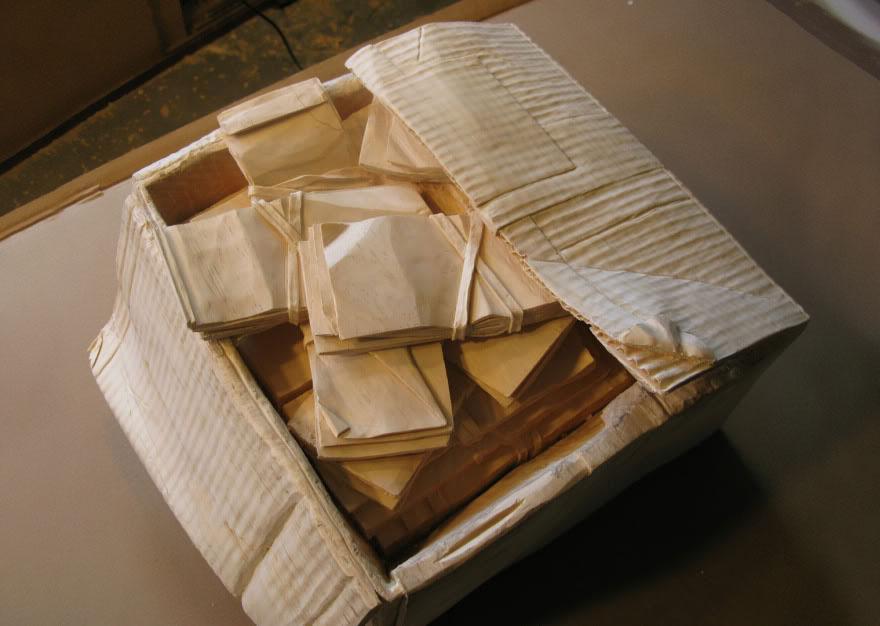14095586371820 realistic wood sculptures box of cash randall rosenthal 6 How Randall Rosenthal Turned Some Wood Into A Box Full Of Cash